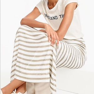 NWT: J.Crew Collection Stripe Sequin Maxi Skirt